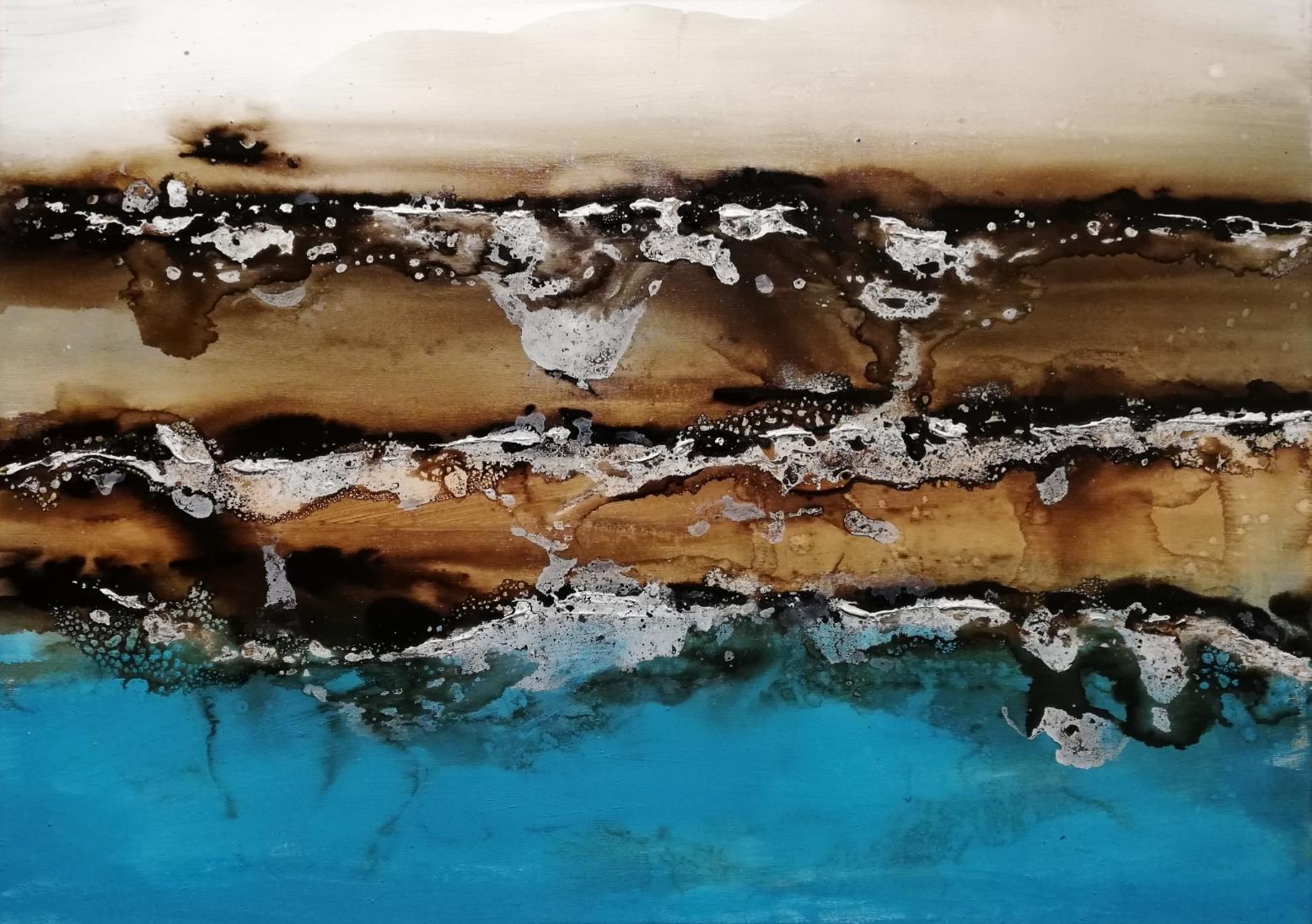Tecnica mixta sobre tela / Mixed media on canvas (50cm x 70cm)