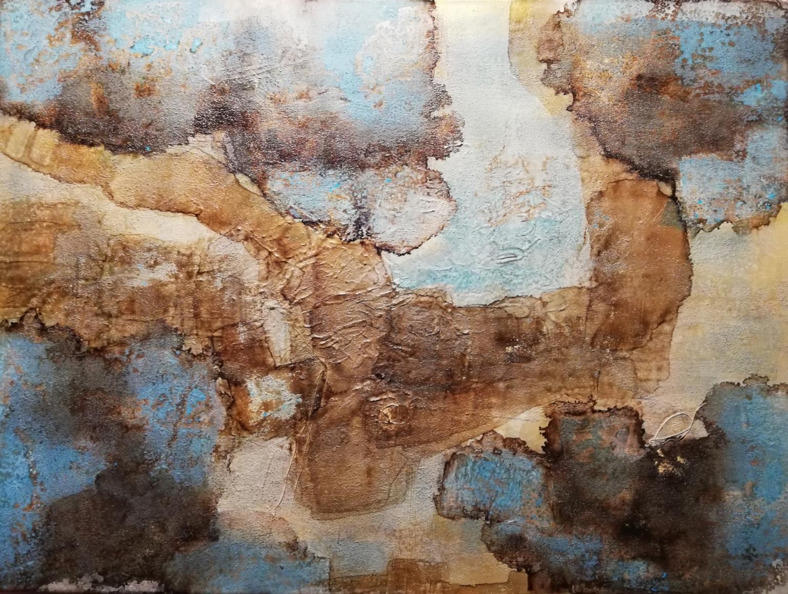 Mixed media on canvas / Tecnica mixta sobre tela (60 cm x 80 cm)